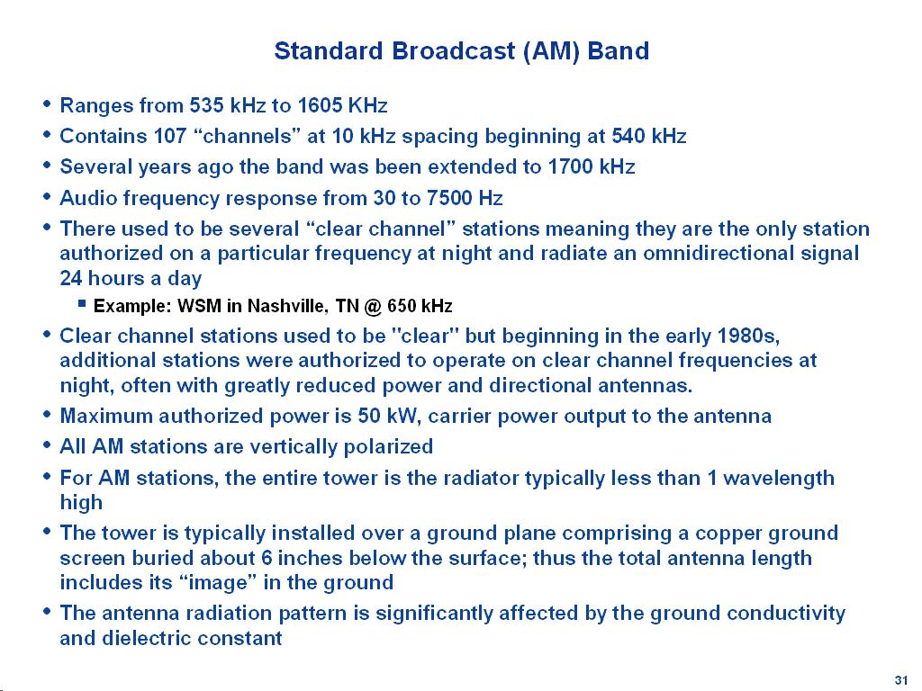 Standard AM Broadcast
