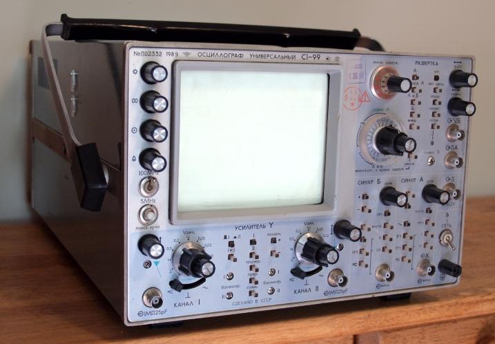 Dual Trace Oscilloscope : Russian dual trace oscilloscope